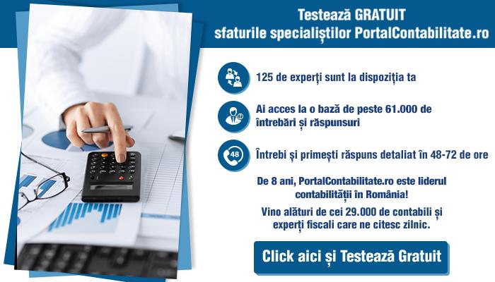 Testeaza gratuit sfaturile specialistilor PortalContabilitate.ro